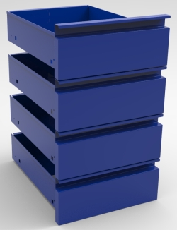 "PEDSYS SERIES STORAGE PACKAGE, 4-6"" DRAWERS"