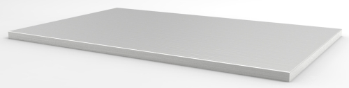 "STAINLESS STEEL WORKSURFACE, WRAP EDGE, 24""D x 48""W"