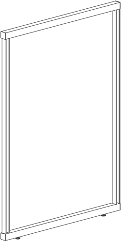 "FRAME, SINGLE-SIDED, 72""W x 72""H"
