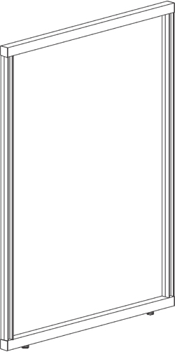 "FRAME, DOUBLE-SIDED,  72""W x 64""H"