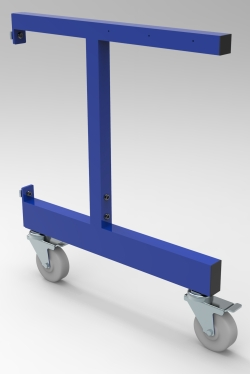 "C-LEG, ADJUSTABLE, FOR 30""D WORKSURFACE AND CASTERS"