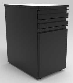 "DRAWER UNIT, 2-3"" DRAWERS +  1-18"" CABINET, RIGHT HINGE"