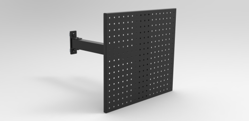 PEG BOARD PANEL, SINGLE ARM