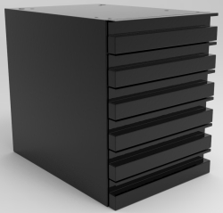 "SUSPENDED DRAWER UNIT WITH MOUNTING KIT, 6-3"" DRAWERS"