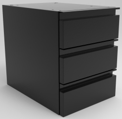 "SUSPENDED DRAWER UNIT, 3-6"" DRAWERS"