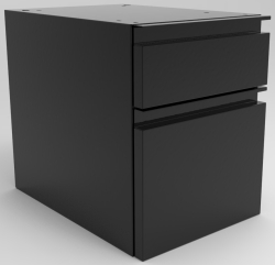 "SUSPENDED DRAWER UNIT, 1-6"" + 1-12"" DRAWER"